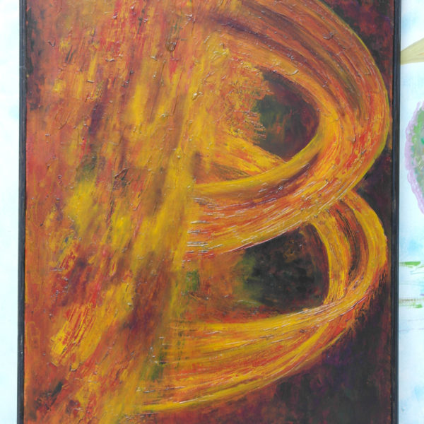 Whirlwinds of Tempestuous Fire oil on canvas 92 cm x 65 cm Zaqueline Souras