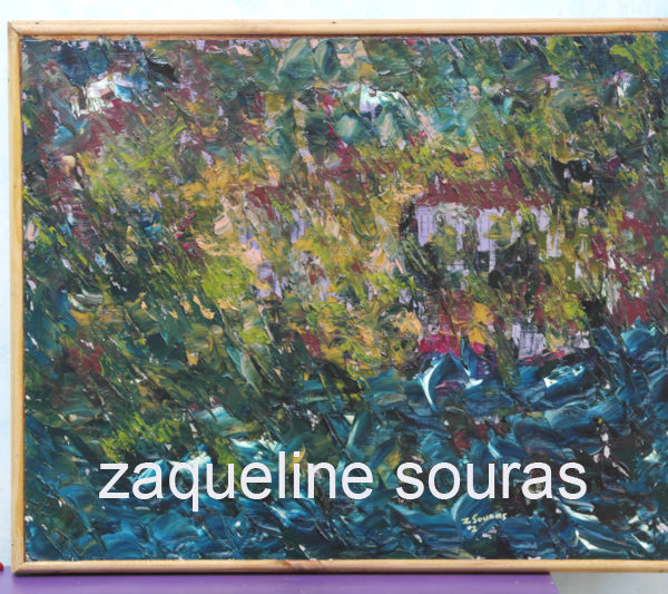 21 House in the storm oil on canvas 51 cm x 41 cm Zaqueline Souras