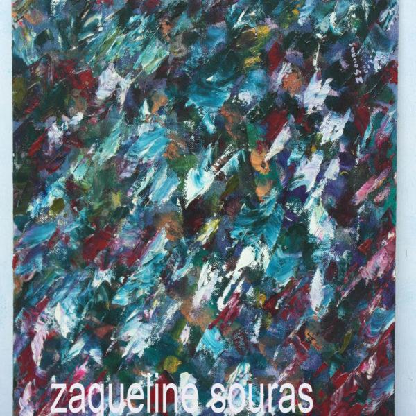 34 NO IDEA oil on canvas on board 46 cm x 36 cm Zaqueline Souras