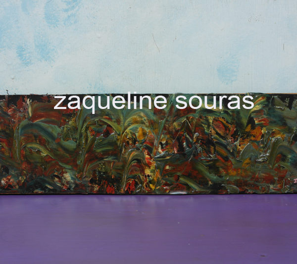 70 Meeting 45 cm x 12 cm oil on canvas on board Zaqueline Souras