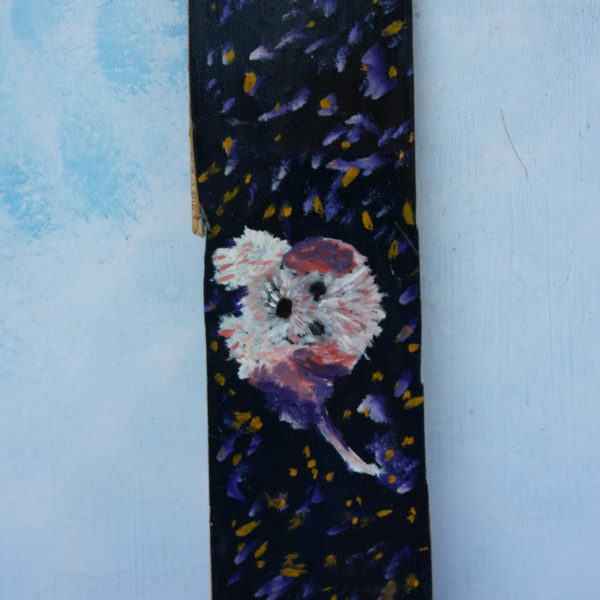 A.158 DOLLY oil on canvas on board 7 cm x 28 cm Zaqueline Souras